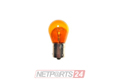 10X Glühlampe 12V 21W-Gelb Sockel BAU15s (120°)