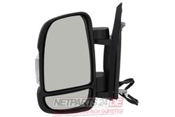 Außenspiegel links, schwarz, Fiat Ducato (250/251) 07/06-