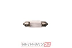 10X Glühlampe/Soffitte 12V 5W Sockel S8,5   11x39mm