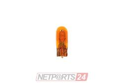 10X Glühlampe 12V 5W-Gelb Sockel W2,1x9,5d (Glassockel)