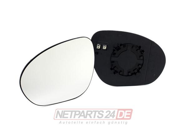 Spiegelglas links für Nissan Juke F15 Außenspiegel Glas Konvex beheizbar Spiegel
